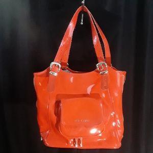 Ted Baker Orange  Vinyl Tote/Handbag